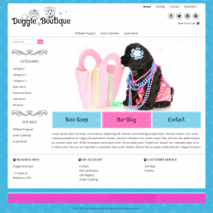 Doggie Boutique - Responsive-Responsive Pet Boutique Website Template -Doggie Boutique