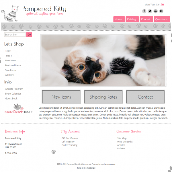 Pampered Kitty - Repsonsive-
