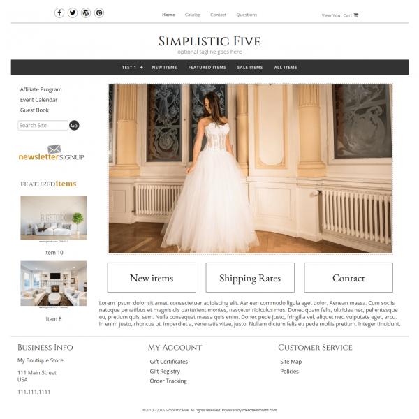Simplistic Five - Responsive-dark grey, gold, clean, masculine,  elegant, classy, modern, professional