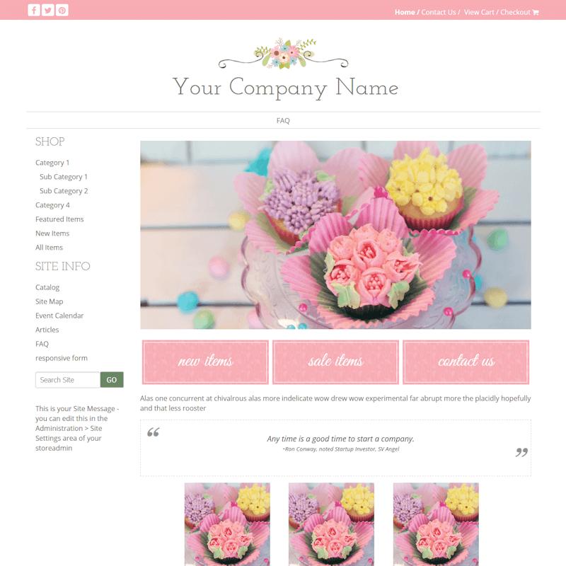Callie-feminine, floral, pink, green, MMDISC