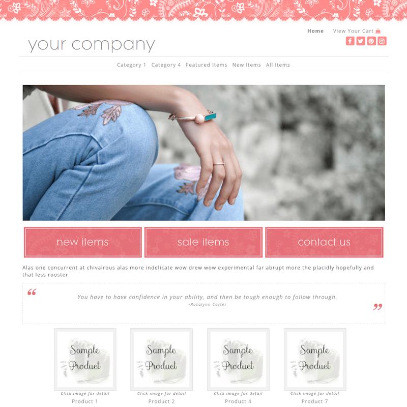 Classy Salmon Full Width-salmon responsive website design