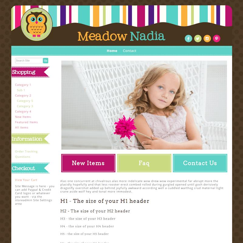 Meadow Nadia - Responsive-brown, orange, green, responsive