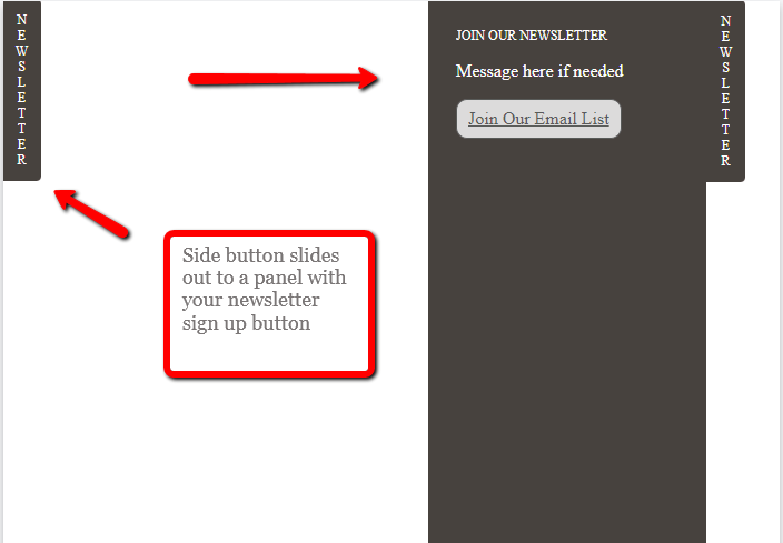 Newsletter Sign Up Button or Flyout-