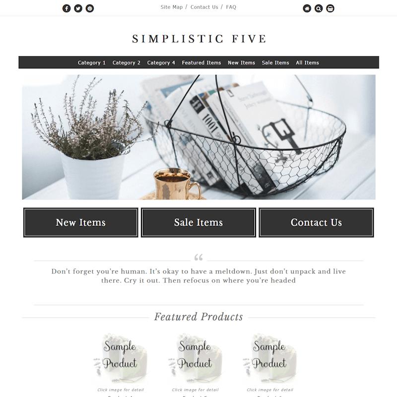 Simplistic Five Full - Responsive-dark grey, gold, clean, masculine,  elegant, classy, modern, professional