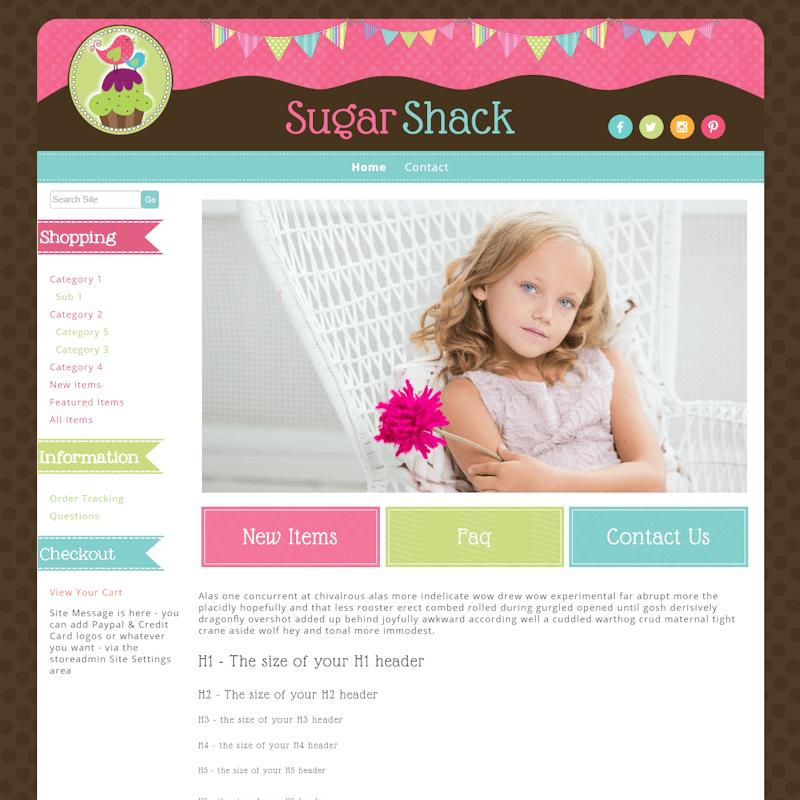 Sugar Shack - Responsive-pink, brown, cupcake, responsive, baker