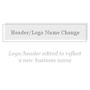 Header/Logo  Change-Header/Logo Name Change