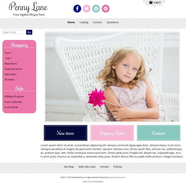 responsive boutique website template penny lane stipes