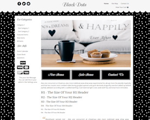 Black Dots - Responsive-Mobile Responsive Boutique Website Template-Black Dots