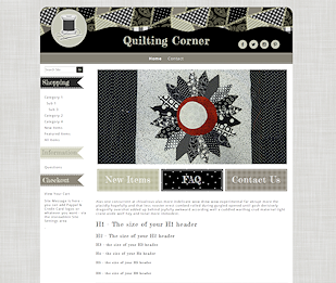 Quilting Corner - Responsive-Mobile Responsive Boutique Website Template-Quilting Corner
