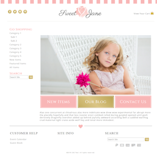 Sweet Jane - Responsive-Mobile Responsive Boutique Website Template-Sweet Jane