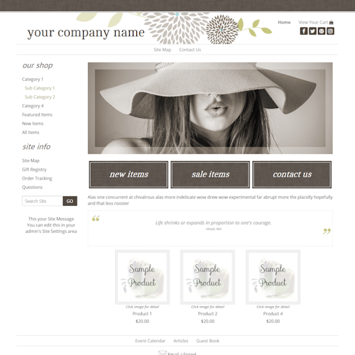Charlotte 2COL-spa, eco friendly, holistic, wellness, or health-related sites, responsive, brown, tan and olive