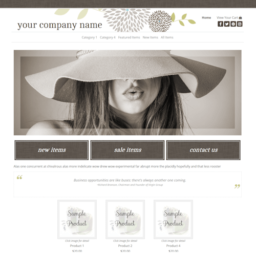 Charlotte Full Width-spa, eco friendly, holistic, wellness, or health-related sites, responsive, brown, tan and olive