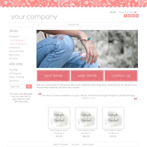 Classy Salmon 2COL-salmon responsive website design
