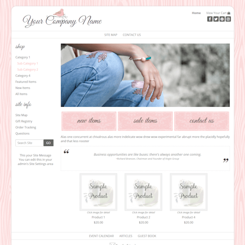 Country Pink 2 Col-pink, mobile responsive, wood, casual
