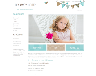 Flyaway - Responsive-Mobile Responsive Boutique Website Template-Flyaway