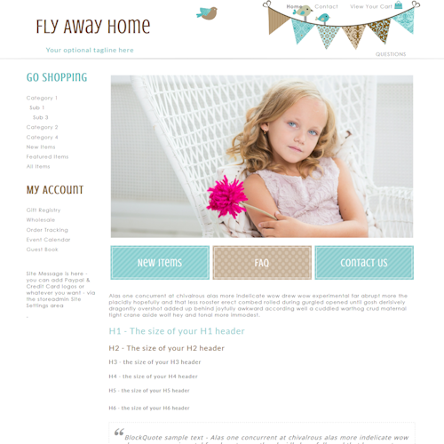 Flyaway - Responsive-teal, tan, brown SDDISC