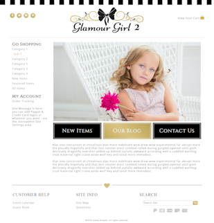 Glamour Girl 2 - Responsive-Mobile Responsive Boutique Website Template-Glamour Girl 2