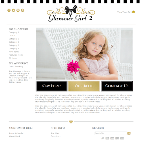 Glamour Girl 2 - Responsive-black, gold, girly, responsive,