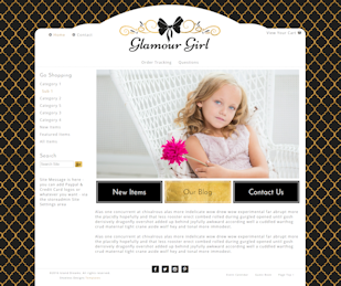 Glamour Girl - Responsive-black, gold, girly, responsive,