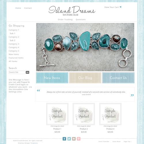 Island Dreams - Responsive-casual, beach, blue,tan, responsive, wood, pastel shiplap