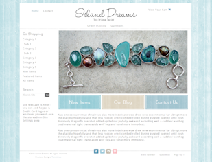 Island Dreams - Responsive-Mobile Responsive Boutique Website Template-Island Dreams