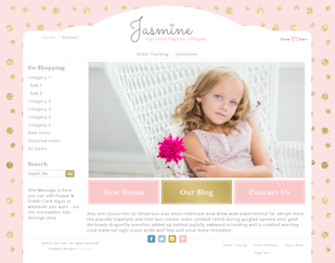 Jasmine - Responsive-Mobile Responsive Boutique Website Template-Jasmine