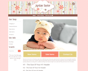 Jordan Taylor - Responsive-Cute boutique website template in pink, yellow green, brown and blue
