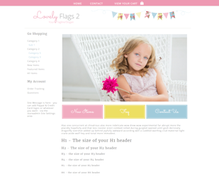 Lovely Flags 2 - Responsive-cute girly boutique website template in pink, blue, yellow