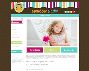Meadow Nadia - Responsive-Mobile Responsive Boutique Website Template-Meadow Nadia