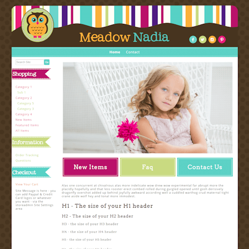 Meadow Nadia - Responsive-brown, orange, green, responsive