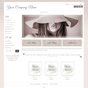 Simone-website template creamy beige responsive damask