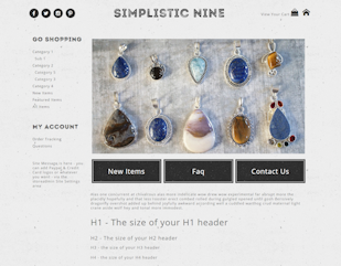 Simplistic Nine - Responsive-grey, white, black, responsive, basic, simple