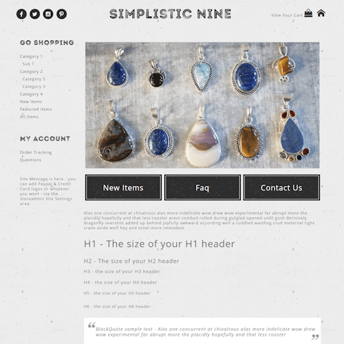 Simplistic Nine - Responsive-grey, white, black, responsive, basic, simple, masculine, clean,  elegant, classy, modern, professional