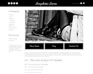 Simplistic Seven - Responsive-black, white, basic, plain, responsive