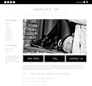 Simplistic Six - Responsive-black, white, basic, simple