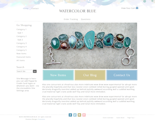 Watercolor Blue - Responsive-Mobile Responsive Boutique Website Template-Watercolor blue