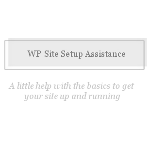 WP Site Setup Assistance-Assistance setting your website with wordpress