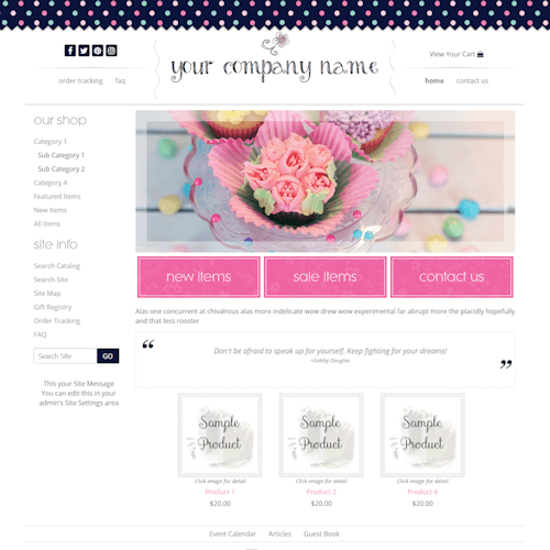 Ziggy Dots-boutique web site design polka dots girly